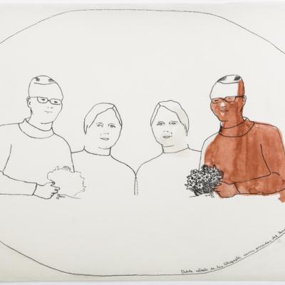 Doble retrato de los Oligastri como Suicidas del Sisga-dibujo mantequilla.jpg