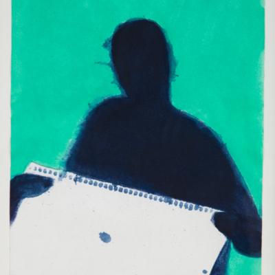 Yolanda Izquierdo con libreta de apuntes